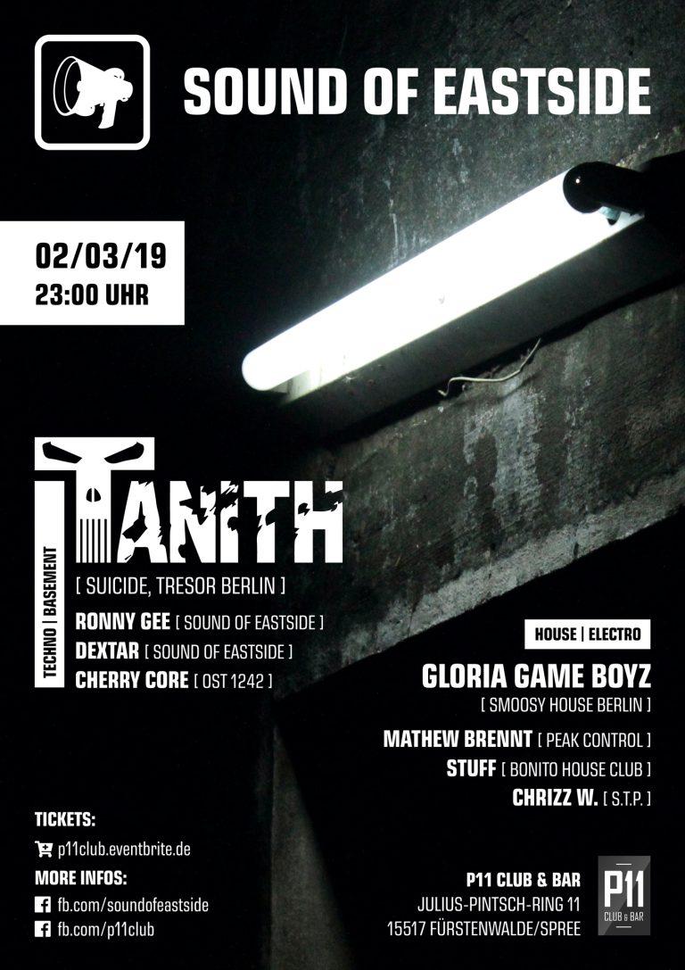 Event-Flyer: Sound of Eastside w/ DJ Tanith, Gloria Game Boyz