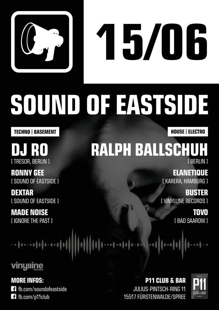 Event-Flyer: Sound of Eastside w/ DJ RO, Ralph Ballschuh